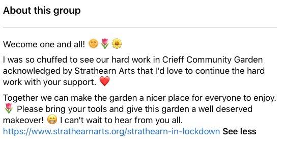 English Language School Blog Blue Noun meets June McEwan in Crieff Community Garden