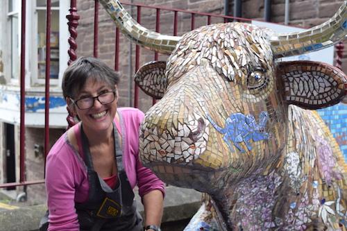 English Language School Blog Blue Noun 'Sweetie Annie' and her artist Katy Galbraith