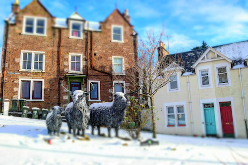 English Language School Blog Blue Noun The Coos Crieff sculptor Kevin Paxton and installed by local charity Crieff in Leaf