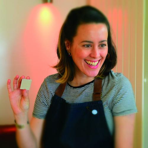 Jenna McDonald demonstrates jewellery making techniques for BLue Noun English language School