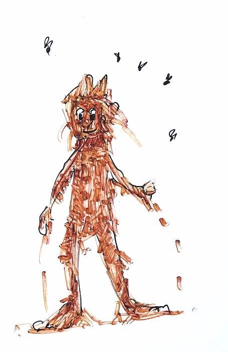 Scottish Midge drawing Marmite