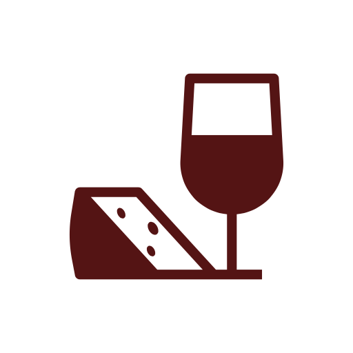 Icon for eat and drink together talking English