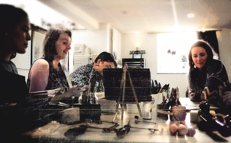 English Language Course for Creatives Meet the Makers Jewellery class