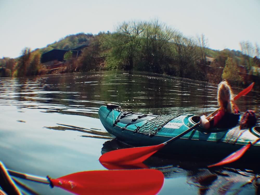 English language holiday activities Kayaking River Tay