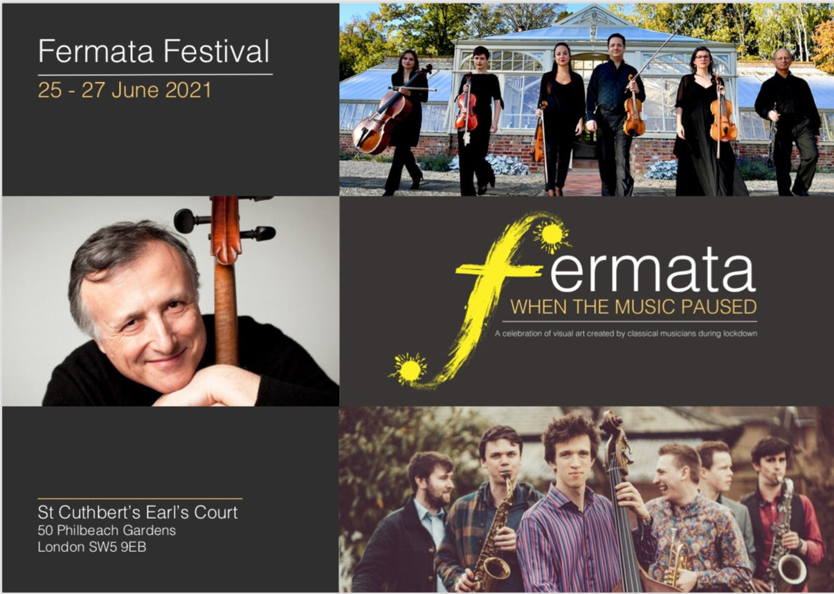Fermata Festival artworks  for  Learn English With Art Language School