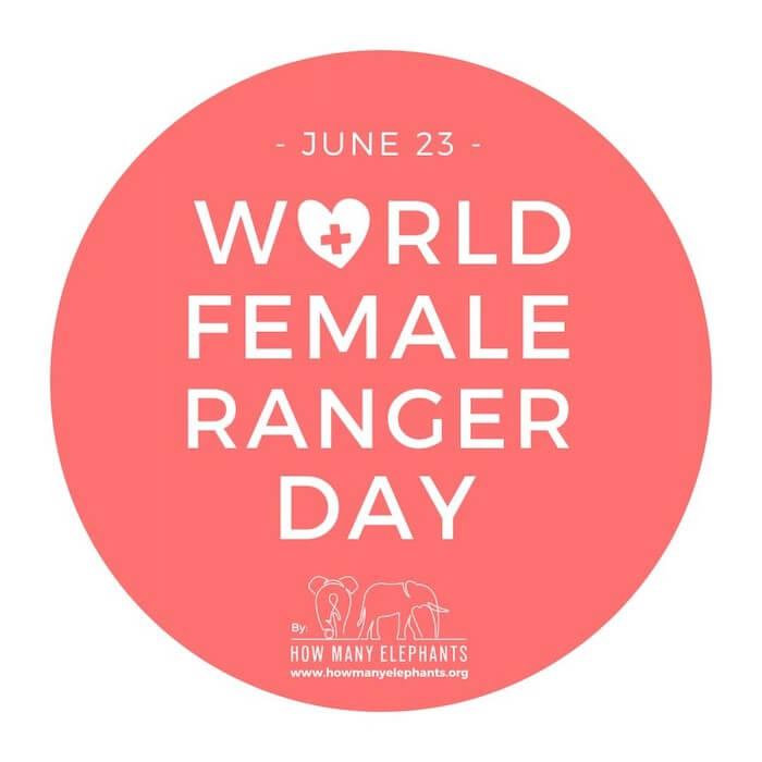 English language skills for creatives How Many Elephants World Female Ranger Day logo