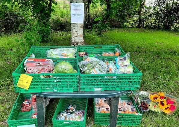 English Language School Food Drop at Crieff Community Gardens